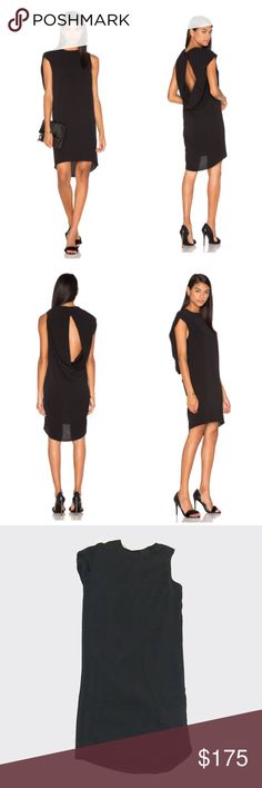 """TY-LR 'The Ravello' Dress TY-LR 'The Ravello Dress'. """"Crafted from a lightweight textured tencel fabric, this shift dress features a draped back cut out with double snap closure and a crew neckline."""" Cool asymmetric design, sexy peephole back drape, style WF160741D. Size XXS, but fits me as a typical S, size 2. NWT. TY-LR Dresses Asymmetrical"""