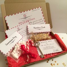 Personalised Christmas Eve Box | Nice List | Reindeer Food | Magic Key