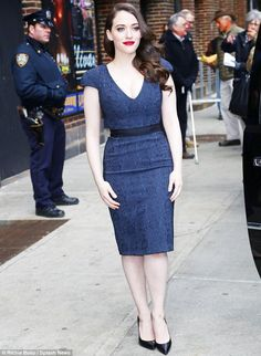 """Kat Dennings in Rubin Singer (2014 """"Late Show With David Letterman"""" appearance)"""