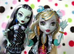 monster high, lagoona and frankie