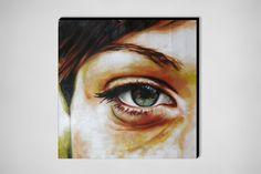 "Saatchi Online Artist: thomas saliot; Oil, Painting ""Green eye"""