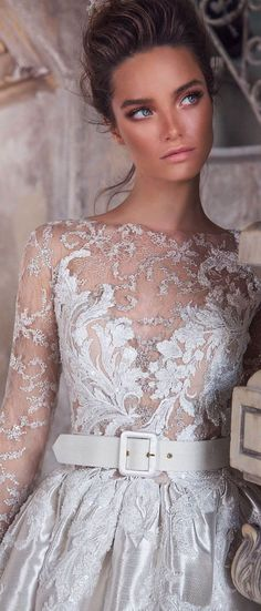 Incredibly romantic Judit gown filled with fashion-forward detailing will bring your wedding gown goals to another level. #weddingdress #weddinggown #weddingdresses #bridedess