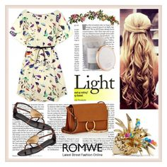 """Romwe"" by loveliest-back ❤ liked on Polyvore featuring Giuseppe Zanotti, Rosantica, Nearly Natural, D.L. & Co. and Chloé"