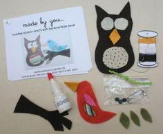 Kids Craft Kit Owl crafts Craft Kits for Adults DIY Gift Kit Burlap Owl Craft DIY Kit Fabric Craft Kit Craft Supplies