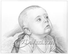 """""""I got one of these for our second grandson's birth. His parents loved it and wanted one for their first child. They are now hanging in their home. The likeness is remarkable. Service is great! Well worth every penny. Beautiful Pencil Sketches, Cool Sketches, Pencil Sketch Portrait, Pencil Drawings, Sketch Paper, Portraits From Photos, First Love, How To Draw Hands, Fine Art Prints"""