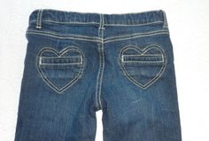 Gymboree Valentine Heart Pocket Blue Skinny  Jeans Girls size 10 #Gymboree #SlimSkinny #Everyday