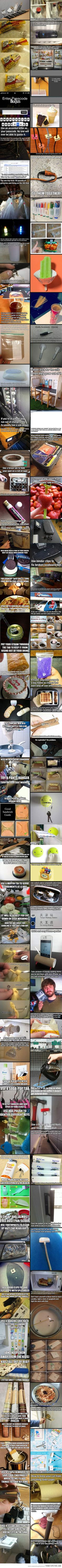 Tips, Tricks, DIYs, and Life Hacks.