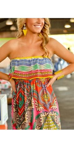Colorful dress! SOOO CUTE! Came in today! Will hit floors tomorrow!   601-605-1605  www.facebook.com/...