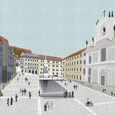 Roz Barr Architects New public square for Lesser Town Square