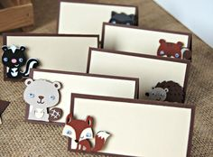 Forest Friends Birthday Party Food Buffet Name Tags Set of 6 MADE TO ORDER on Etsy, $6.00