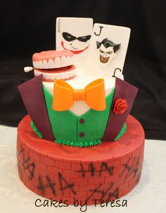 Joker birthday cake Hubby Birthday, Batman Birthday, Girl Birthday, Joker Cake, Le Joker Batman, Bithday Cake, Character Cakes, Different Recipes, Cake Creations