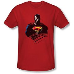 MAN OF STEEL/BUST – S/S ADULT 30/1 – RED - http://bandshirts.org/product/man-of-steelbust-ss-adult-301-red/