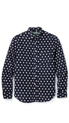 Gitman Vintage Daisy Corduroy Shirt_daisey