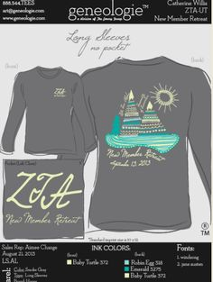 @geneologie #zeta #sororityshirts #greeklife New Member Retreat
