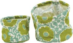Lime Green Imperial Rosette Jute Flower Pot Covers