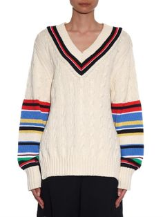 Preen By Thornton Bregazzi Blythe striped sweater