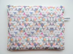 Hello Harriet | ipad case - geometric - large zipper pouch - padded - triangle pattern   http://www.renegadecraft.com/london-home