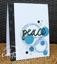 Bokeh Dots Peace Card by @catherinepooler. #EssentialsbyEllen #ellenhutsonllc