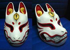 Kitsune mask by Silverfox5213.deviantart.com on @deviantART