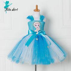 Novo Elsa Meninas Vestido de Princesa Crianças Vestir As Crianças Vestido de Festa Vestidos de Cosplay Vestidos Estilo Verão(China (Mainland))