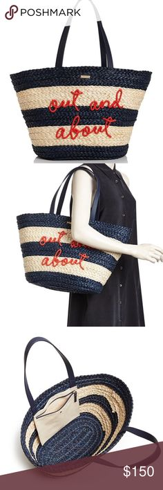 308ccb908b Kate spade out and about shore thing straw tote PRICE IS FIRM PLEASE