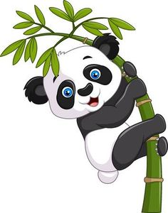 Vector illustration of Cute funny baby panda hanging on a bamboo tree Niedlicher Panda, Panda Art, Cartoon Cartoon, Cartoon Characters, Cute Panda Cartoon, Cute Panda Drawing, Baby Drawing, Cute Drawings, Animal Drawings