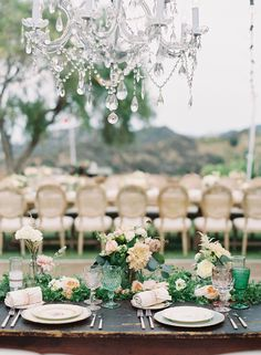 Pastel Malibu Ranch Wedding featured on Style Me Pretty | Photo by Caroline Tran | Design by So Happi Together | Dinnerware by Casa de Perrin
