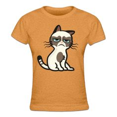 Tee shirt Femme Sad Angry Cat
