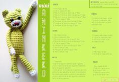 Mini Aminekos - Patrón Gratis en Castellano
