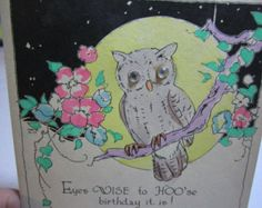 Owls by Marie on Etsy