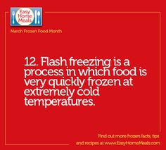 It's day 12 of #MarchFrozenFoodMonth!! Did you know frozen fruit, veggies and fish are all flash frozen? It's the most natural form of preservation.