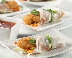 Who says you can't enjoy spring rolls in the summer? Crunchy Thai Spring Rolls. #Recipe
