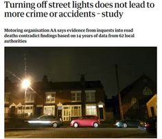 Is there any correlation between LED street lights / improved street lighting and a reduced number of crime?