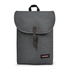 Ciera Black Denim Backpacks by Eastpak - Front view