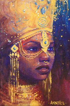 Natural Stylish Beauts, fyblackwomenart: Empress by by Annelie Solis