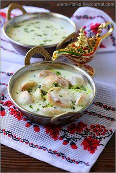 Kubbeh o Shishbarak Bilaban (Arabic Ravioli and Kubbeh in Yogurt Sauce)
