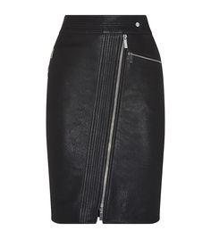 Karen Millen Zip Leather Pencil Skirt | Harrods