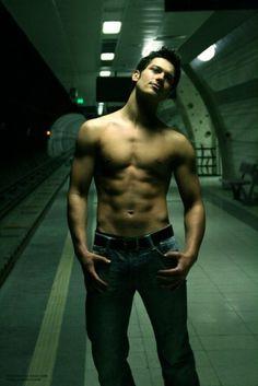 sex man men gay guy model naked underwear male nude muscle