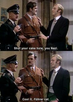 (From left to right: Michael Palin, John Cleese, and Graham Chapman) Monty Python always makes me laugh. British Humor, British Comedy, Welsh, Eric Idle, Terry Jones, Michael Palin, Terry Gilliam, Monty Python, Great Tv Shows