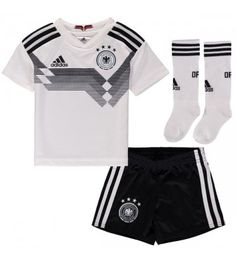 Germany National Team adidas Toddler 2018 World Cup Home Jersey and Short Set - White/Black Jersey Shorts, World Cup, Online Price, Germany, Vm 2018, Adidas, Crop Tops, Best Deals, Short Set