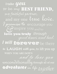 LOVE these Vows