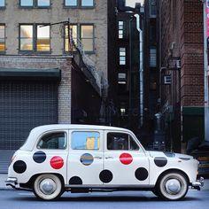 Polka Dot Car. #classiccar #vintagecar #austinfx4