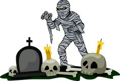Lots of Ghosts, Spooks and Monster for Halloween: Mummy In The Graveyard