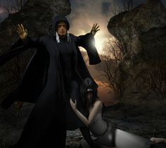 Raistlin & Crysania by Gray [©2008]