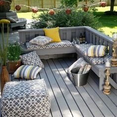 Deck - nice color & love the bench design...so casual and fun!