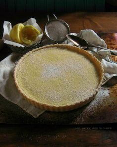 lemon tart with lemon-vanilla sablé