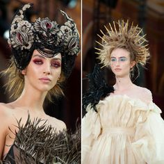 Couture Week, Haute Couture Fashion, Platinum Wigs, Runway Hair, Embellished Gown, Wig Making, Blonde Wig, Hair And Makeup Artist, Japanese Street Fashion
