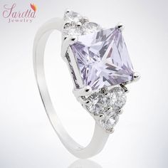 'SQUARE CUT TANZANITE PINK' is going up for auction at  5pm Sun, Oct 28 with a starting bid of $13.