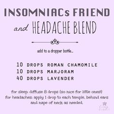 Insomniacs Friend & Headache Blend