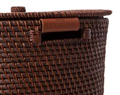 Rattan Basket with Lid and Leather Lexington Home, New England Style, Terry Towel, Rattan Basket, Kitchen Towels, Table Linens, Home Textile, Leather, Design